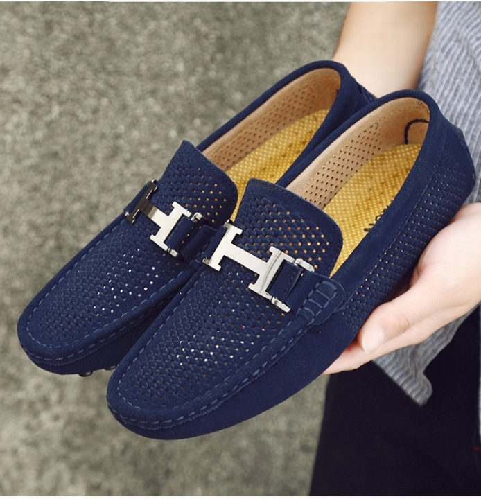 e8e783a3801fd 2018 Leather Loafers Leather Driving Moccasins Slip on Shoes Men ...