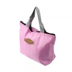 Women Men Thermal Insulation Waterproof Portable Picnic Insulated Food Storage Box Tote Lunch Bag Pink 35cm×42cm