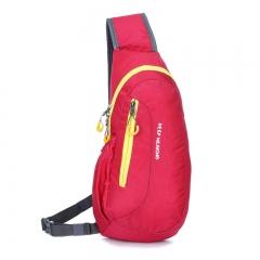 Multi-function Men Chest Bags Men Women Casual Crossbody Bags Unisex Handbag Hot red 19cm×40cm×7cm