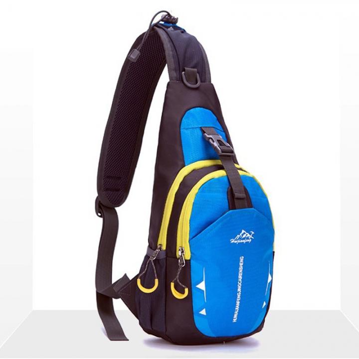 747d215a7c9 nylon Waterproof Shoulder Bags women chest pack muscle men chest back Travel  Pouch Crossbody Bags sky