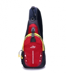 nylon Waterproof Shoulder Bags women chest pack muscle men chest back Travel Pouch Crossbody Bags red 350mm×480mm×120mm