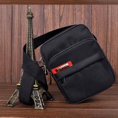 Men's Messenger Bag Oxford Black Travel Men's Bag Multi Pocket Waterproof Handle Shoulder Bag black 22cm×7cm×17cm