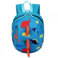 Anti-lost Kids Backpack  Printing Bags Children Backpacks Boy Girls Kindergarden School Backpack blue 19 inch