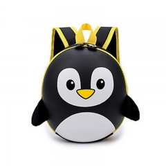 New EVA Penguin Schoolbag Children Backpack Hard Shell Backpack Cartoon Shoulder Bag black 12.5cm×27cm×10cm