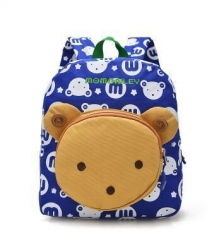 Cute Cartoon Little Rabbit Bear Baby kindergarten Bag High Quality Oxford Fabric Toddler Book Bag blue 23cm×12cm×27cm
