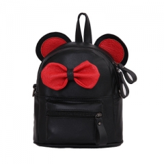 New girl shoulder bag dual-use small Diagonal School bag children cute bow small backpack black 20cm×18cm×12cm