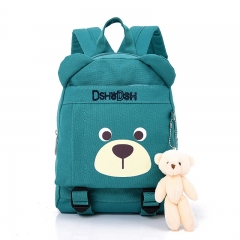 2018 Hot Sale Fashion Children School Bags Cartoon Bear Backpack Baby Toddler Boy Girl Backpacking blue 23cm×31cm×12cm