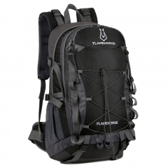 2921 New Outdoor Climbing Bag Travel Backpack Sports Backpack Waterproof Nylon Travel Bag Black 60L