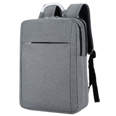 880 New Computer Bag Laptop Backpack Simple Casual Business Travel Bag Grey 30L