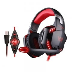 KOTION EACH G2200 USB 7.1 Surround Sound Vibration Game Gaming Headphone Computer Headset Orange
