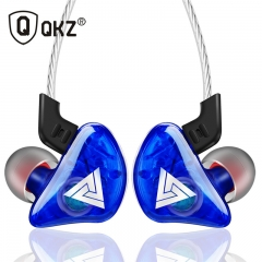 QKZ CK5 New Sports Ear-on Earphones Transparent Heavy Bass Mobile Music Headphones Blue