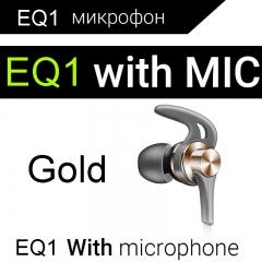 QKZ EQ1 Metal In-ear Mobile Phone Headset Sports Subwoofer Headphones Gold