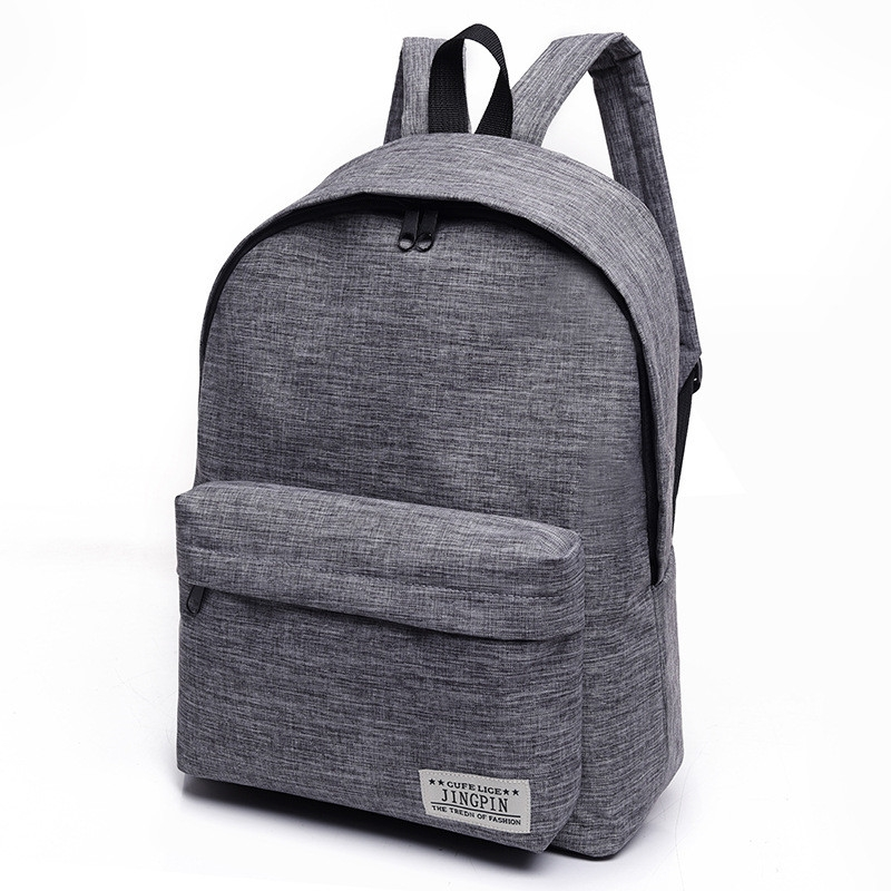 b5b39c048e Canvas Backpack Student Bag Small Fresh College Wind Backpack Men s Fashion  Travel Bag Grey 30   40   16cm  Product No  542986. Item specifics  Brand