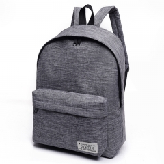 Canvas Backpack Student Bag Small Fresh College Wind Backpack Men's Fashion Travel Bag Grey 30 * 40 * 16cm