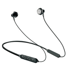 Bluetooth headset neck-mounted binaural hanging neck sports wireless headset black