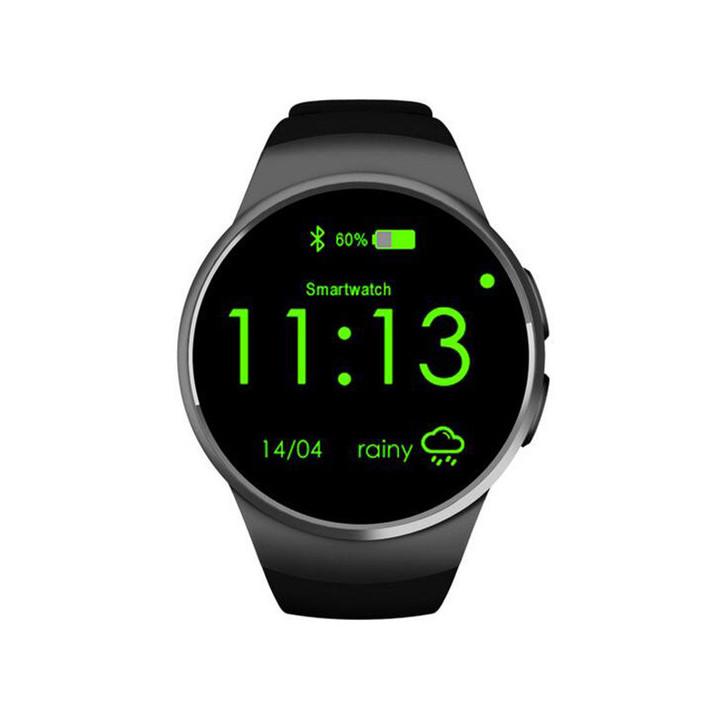 Smart watch call smart watch round bluetooth black