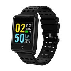 Smart watch sports heart rate IP68 waterproof black