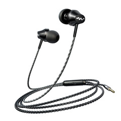 Headphone high-end mobile phone headset with microphone black