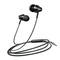Headphones sports smart line control mobile phone MP3 headphones black