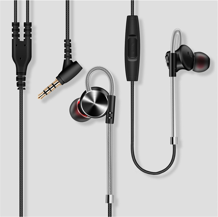DM10 Metal Magic Sound Magnetic Sports Phone Headset black