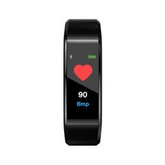 Color Screen Smart Bracelet Blood Pressure Heart Rate Monitoring Waterproof Bluetooth Sports Step black