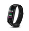 Smart watch heart rate blood pressure monitoring waterproof pedometer black