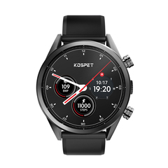 4G Smart Watch 3+32G Large Memory Removable Strap Ceramic Bezel 620 Mah black