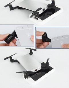 GIFT TO KID FLYING MOBILE PHONE DRONE Silver D520-720P -P