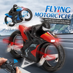 Dural Mode Ground Driving And Flying Motorcycle Remote red H77-Flying