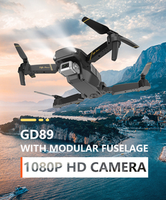 1080P HD Camera Long Flying Time Portable Design Aircraft black DG89-1080P