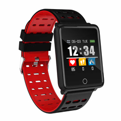 Smart Watch Sedentary Remind Heart Rate Sphygmomanometer Fitness iOS and Android red