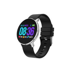 Fashion Bracelet Bluetooth Waterproof  Heart Rate Blood Pressure Monitor Sport Fitness Tracker moonlight silver