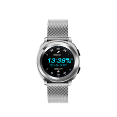 Fashionable waterproof sport smart watch Bluetooth Wrist Watch Heart Rate Blood Pressure Monitor moonlight silver