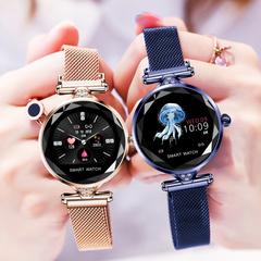 Smartwatch Bluetooth Waterproof FashWristband Bracelet HR Monitoring Fitness  Health Watch gold