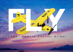 Light Weight Highly Elastic Glider Remote Control Aircraft Yellow RC-FX803JD