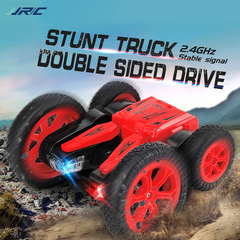 Double Sided Off Road Driving Remote Control Car Transforming Toy red q71