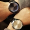 ashion Leather Band Touch Screen LED Watches silvery