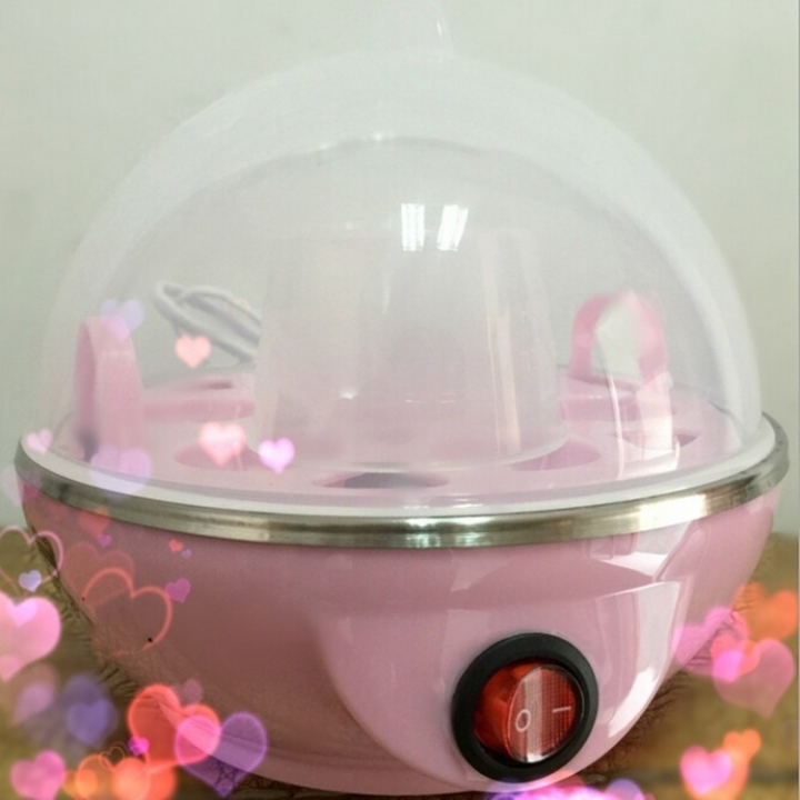 Eggs Device Multifunction Poach Boil Electric Egg Cooker Boiler Steamer Pink one size