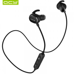 QCY QY19 IPX4-rated sweatproof headphones bluetooth 4.1 wireless sports earphones black