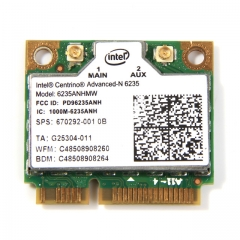 Laptop wireless lan card for Intel Centrino Advanced-N 6235 6235ANHMW 300 Mbps WIFI card Bluetooth as shown