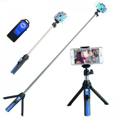 BENRO 33inch Handheld Tripod Selfie Stick 3 in 1 Bluetooth Extendable Monopod Selfie Stick Tripod red one size as shown one size