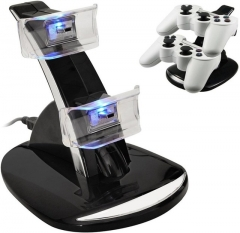 For PS3 Controller LED Light Dual USB Charging Dock Stand Charger For Sony PlayStation 3 Controller