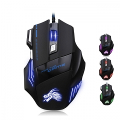 Professional Wired Gaming Mouse 7 Button 5500 DPI LED Optical USB Gamer Computer Mouse as shown one size