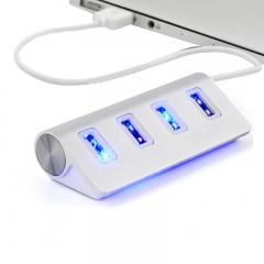 High Speed 4 Port USB 2.0 Hub USB Port USB HUB Portable OTG HUB USB Splitter as shown