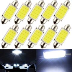 10pcs/lot Car COB 1.5W DC12V Interior Car LED Bulbs Lamp Interior