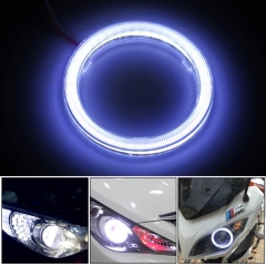 2 pieces Halo LED Rings Angel Eye Car Headlight COB 60/70/80/90/100/110/120 mm Chips Headlight DRL