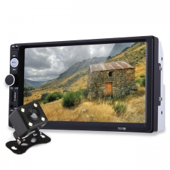 7010B 7 Inch TFT Car Audio Stereo Touch Screen 2 Din MP5 Player Rearview Camera Bluetooth 2.0