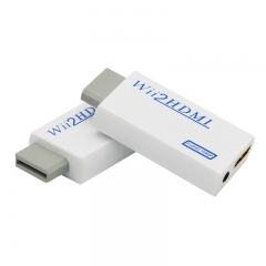 Wii to HDMI Adapter Converter Support 720P1080P 3.5mm Audio For HDTV Wii2HDMI as shown