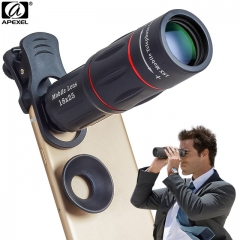 APEXEL 18X Telescope Zoom Mobile Phone Lens for iPhone Samsung Smartphones universal clip as shown one size as shown one size