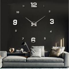 New Wall Clock Clocks Watch Stickers Diy 3d Acrylic Mirror Home Decoration Quartz Balcony